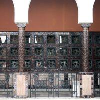 Wilaya, ex-hôtel de ville - Détail des zellijs des colonnes et des ouvertures